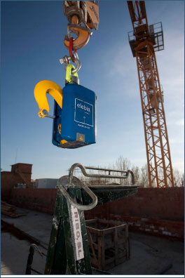 First generation elebia automatic hook for tower crane