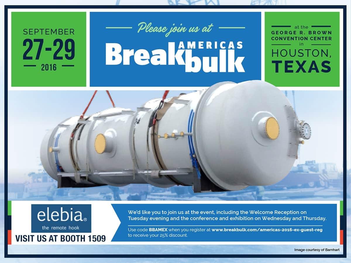 BBAM2016 DISCOUNT invite elebia - Elebia sera présent à la Breakbulk Americas 2016