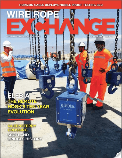 Wire Rope Exchange cover - Elebia sur la couverture du Wire Rope Exchange