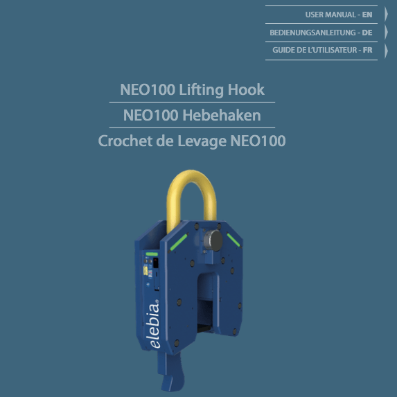 NEO100 user manual - Crochet de Levage NEO100