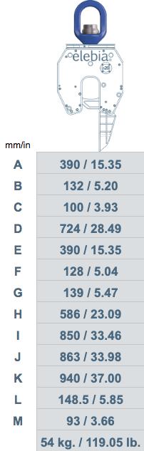 NEO20 B30 chart - NEO20 - Lasthaken für Haubenöfen